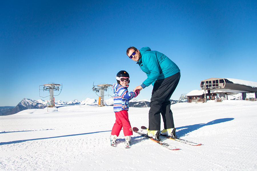 Tiny Tots ski lessons with ZigZag Ski School