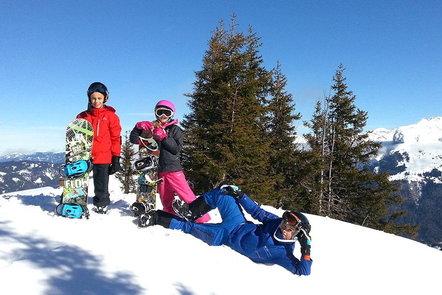 Snowboard lessons Samoens