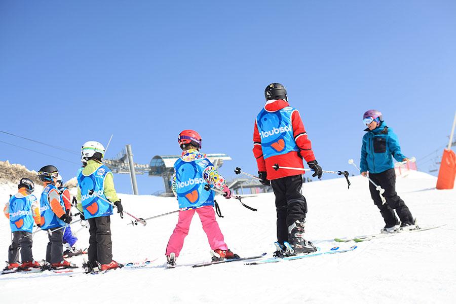 Children's ski lessons in Samoens