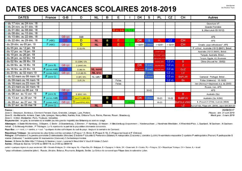 european school holiday calendar holiday dates for winter 201819
