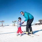 Tiny Tots ski lessons with ZigZag Ski School